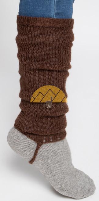 Alpaca Leg Warmers SOLID Color - Alpaca Blend - Rustic Quality - Natural Color - 16481102