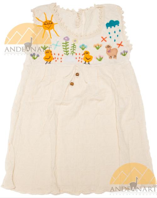 Applique Cotton Girls Dress - 16997001