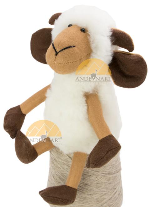 Alpaca Fur Ram - Alpaca Fur Stuffed Animal - White - 15981610