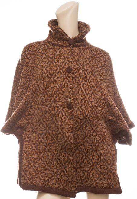 Cape / Sweater with Design for Women - Rustic Quality