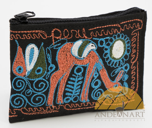 16201102 Embroidered Coin Purse Colca Canyon Style