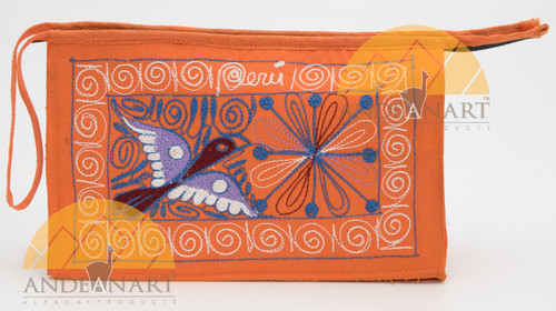16201105 Embroidered Wristlet Purse Colca Canyon Style