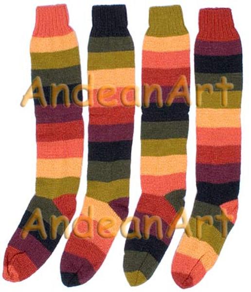Striped Full Colors Alpaca Socks - 16711702