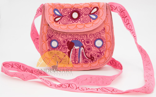 16201108 Embroidered Crossbody Semi-round Bag Small Colca Canyon Style_2