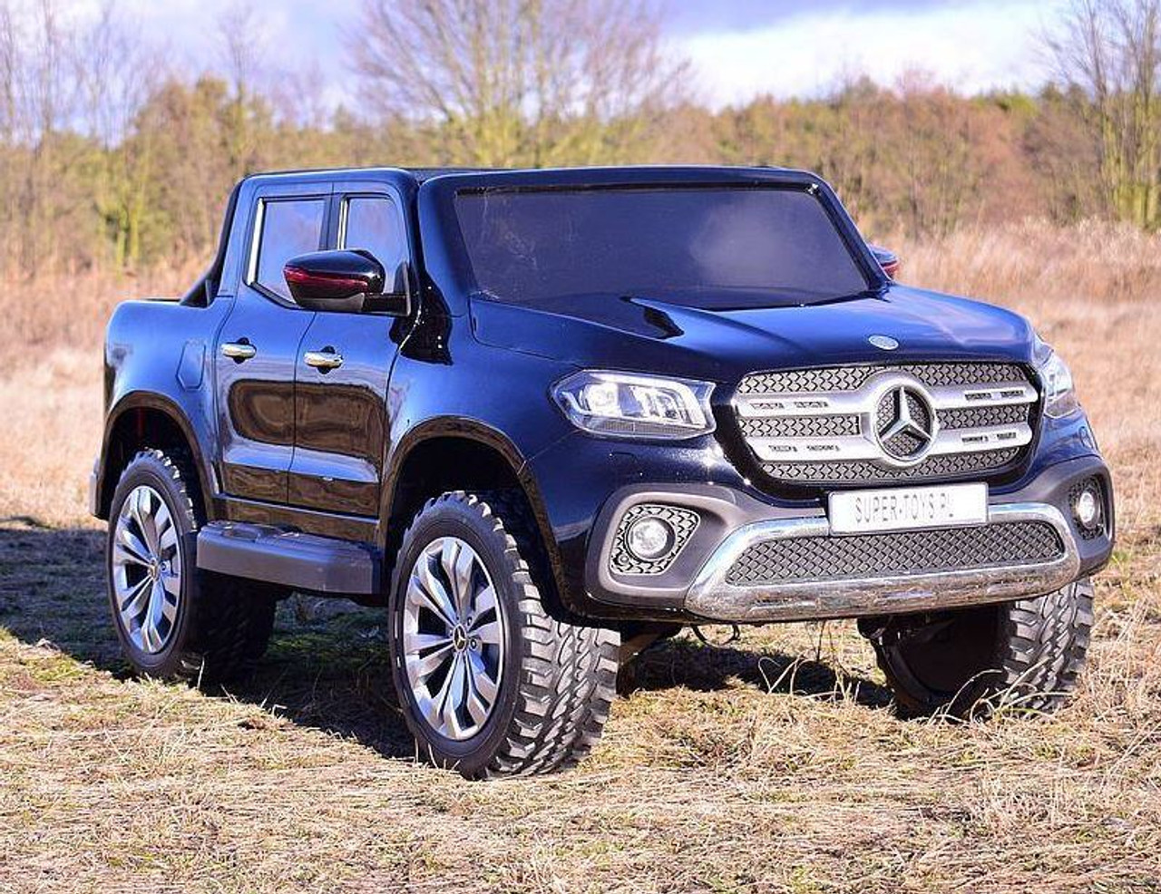 Mercedes Benz X Class Licensed 24v Electric 2 Seat Kids Ride On Jeep Eva Rubber Wheels 4 Wheel Drive Black Www Funstuff Ie