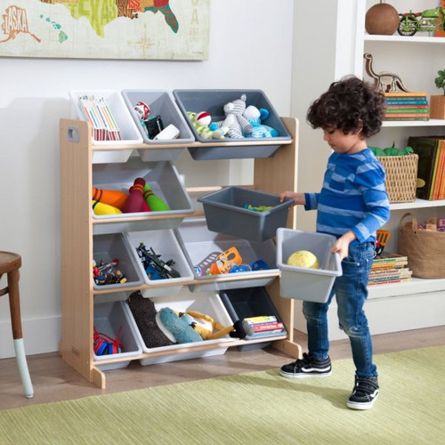 Sort It & Store It Bin Unit - Gray and Natural