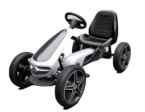 Mercedes Benz - Stylish Eva Rubber Wheel Tyres Go Kart / Cart - White & Black- 3-8 Years (XMX610-WHITE)