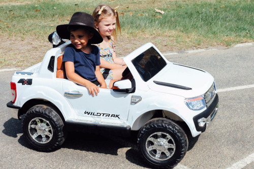 Licensed Ford Ranger Premium Upgraded 12v Kids Electric Jeep - Special White (Ford-Ranger-White)