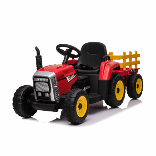 MX - 12v Electric Tractor & Trailer Red