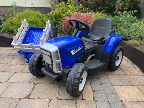 MX - 12V Electric Tractor & Trailer Blue