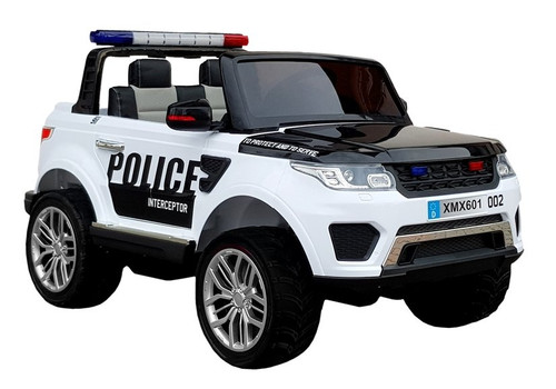 Police Cruiser Electric Ride On Jeep 12V White