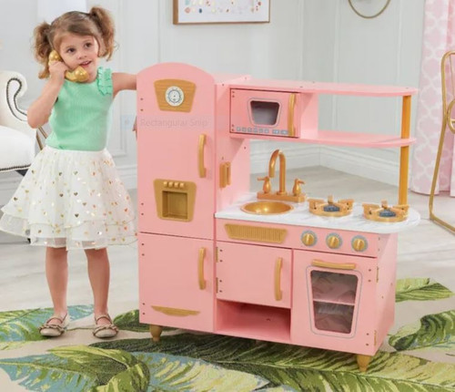 Limited Edition Vintage Kitchen-Pink &Gold