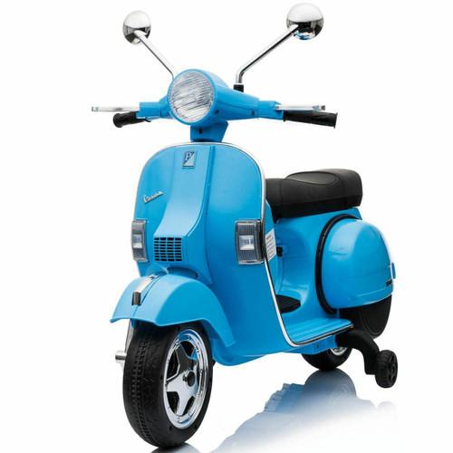 12v Licensed Vespa Blue Electric Ride On Motorbike (VESPA-BLUE)