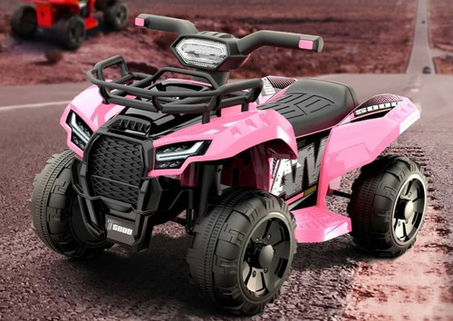 JS Champion 6V Electric Ride On Quad (Pink) - JS320-PINK - Funstuff.ie Ireland UK