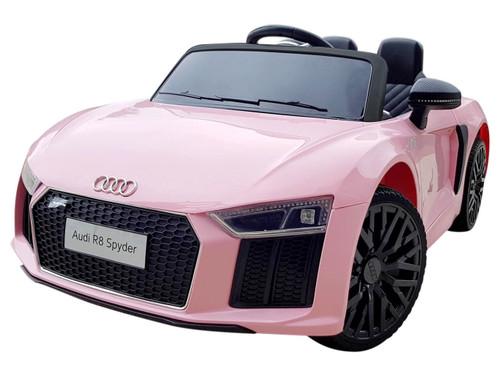 HL1818-PINK - Licensed Audi R8 Spyder (Pink) 12V Electric Ride On Car - Funstuff.ie