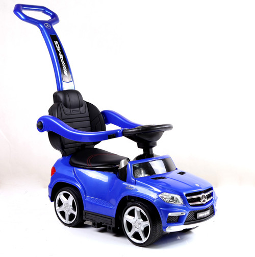 Licensed Mercedes AMG Push Bar (Blue) Foot-to-Floor Car