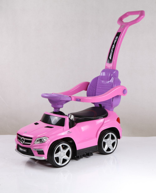 Licensed Mercedes AMG Push Bar (Pink) Foot-to-Floor Car - www.funstuff.ie