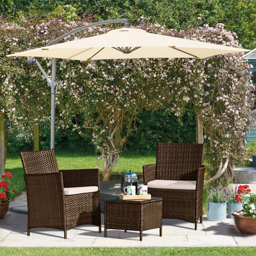 3 Piece Bistro Set (Brown)