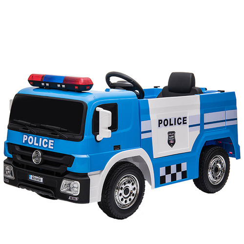 Police Engine 12V Electric Ride On Truck (Blue) - SX1818-BLUE - Funstuff.ie Ireland UK