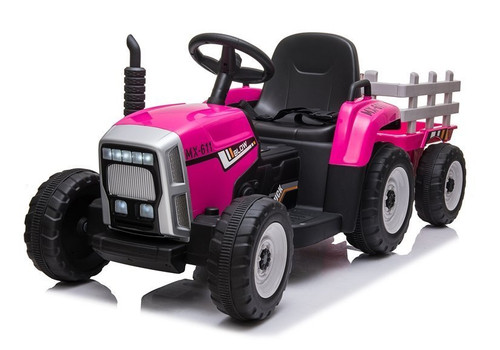 MX - 12v Electric Tractor & Trailer Pink