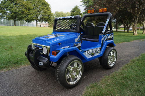 Drifter Raptor Powerful 12V Two Seater 4x4 Electric Ride on Jeep (Blue)