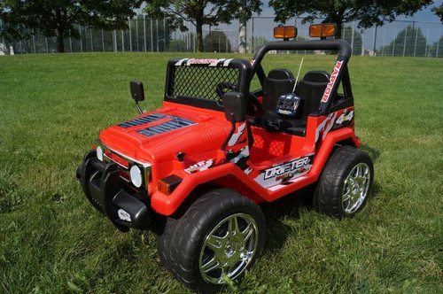 Drifter / Raptor - Powerful 12V 2 Seater 4x4 Ride on Truck Jeep (Red) (S618-RED)