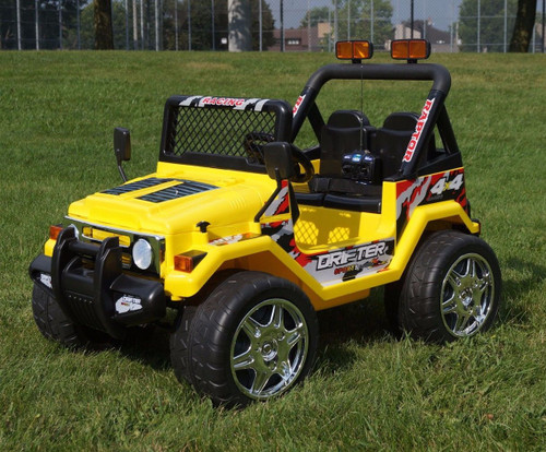 Drifter Raptor Powerful 12V Two Seater 4x4 Electric Ride on Jeep (Yellow)