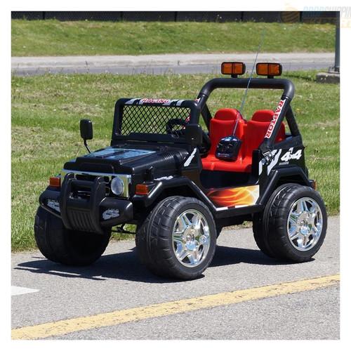 Drifter / Raptor - Powerful 12V 2 Seater 4x4 Ride on Truck Jeep (Black) (S618-BLACK