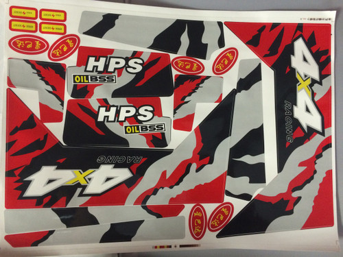 S618 Sticker Set Red