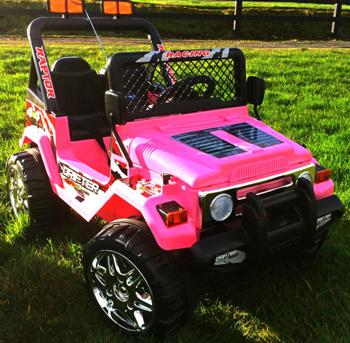 Drifter Raptor Powerful 12V Two Seater 4x4 Kids Electric Ride on Jeep (Pink)