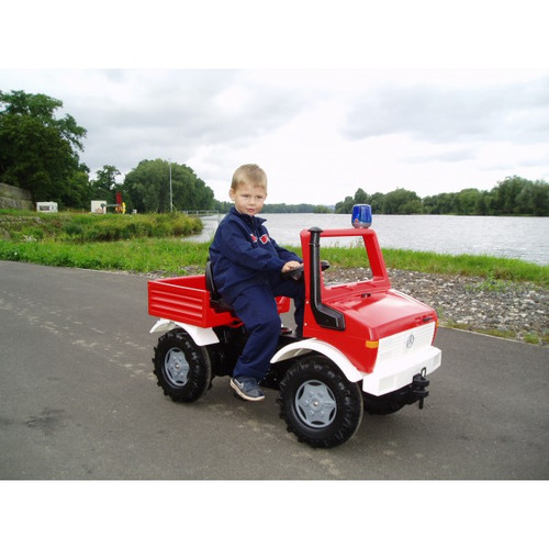 ROLLY - Mercedes Fire Unimog with Gears, Brake and Flashing Light (S2603663)
