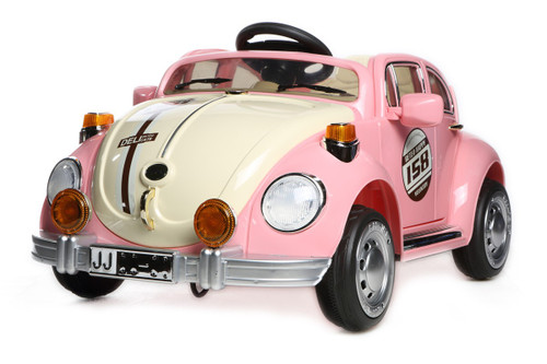 Pink Beetle - 12V Kids' Electric Ride On Car (JE158-PINK)