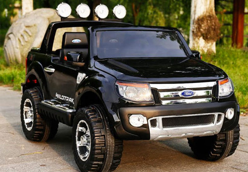 12v Licensed Ford Ranger Premium Electric Ride On - Special Black