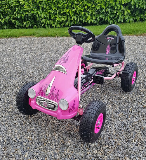 Princess - Rubber Wheel Go Kart / Cart - Pink - 3-8 Years (PB9688A-PINK)
