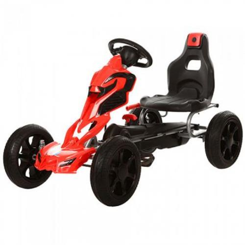 Thunder Eva Rubber Wheel Go Kart Red & Black - 1504-RED - Funstuff.ie Ireland UK
