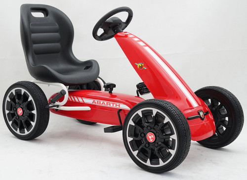 Licensed Abarth Pedal Go Kart (RED) - 3-8 YEARS (PB9388A-ABARTH-RED)