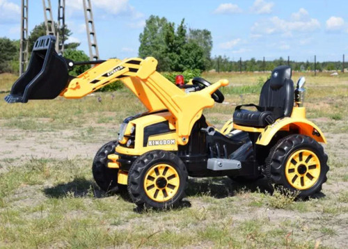 KINGDOM- 12v Electric Tractor with Loader - Yellow (JS328A-YELLOW)