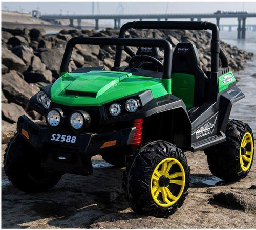 Ranch Wagon 24V Electric Ride On Buggy (Green)