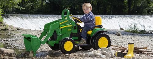 Peg Perego John Deere Ground Loader 12V Tractor The Supreme Electric Bulldozer with Loader (IGOR0068)