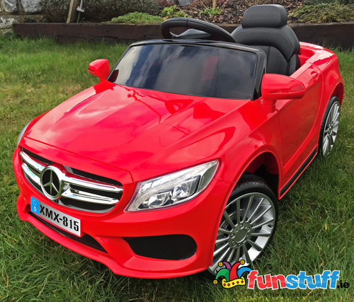 Mercedes Style Coupe 12V Electric Ride On Car (Red) - XMX815-RED - Funstuff.ie Ireland UK