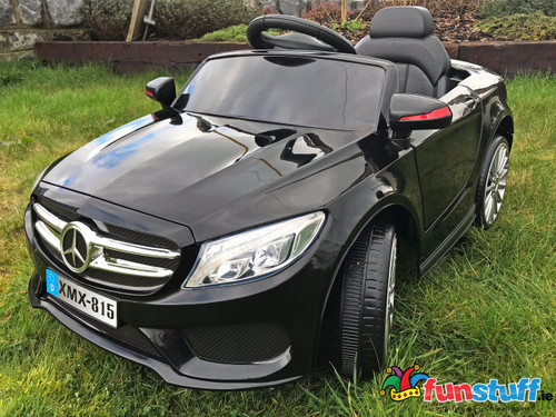 Mercedes Coupe 12V Electric Ride On Car (Black) - www.funstuff.ie