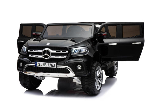 Mercedes Benz X Class Licensed 24v Electric 2 Seat Kids Ride On Jeep EVA Rubber Wheels 4 Wheel Drive - Black ( XMX606-XCLASS-24V-BLACK)