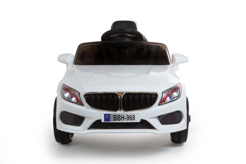 SALE - BMW Style Ride on Coupe 12V - White (BBH-968-WHITE)