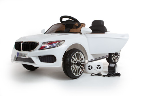 BMW Style Coupe 12V Electric Ride On Car (White)