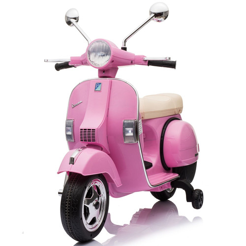 Licensed Vespa PX150 12V Ride On Children's Electric Scooter Bike- Pink (VESPA-PINK)