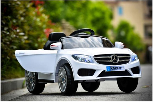 Mercedes Style Coupe 12V Electric Ride On Car (White)
