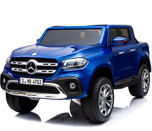 Mercedes Benz X Class Licensed 24v Electric 2 Seat Kids Ride On Jeep EVA Rubber Wheels 4 Wheel Drive - Blue