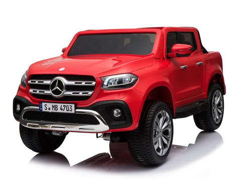 Mercedes Benz X Class Licensed 24v Electric 2 Seat Kids Ride On Jeep EVA Rubber Wheels 4 Wheel Drive - Red