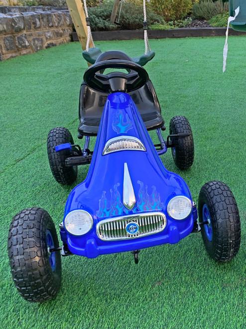 Prince - Rubber Wheel Go Kart / Cart - Pink - 3-8 Years (PB9688A-BLUE)
