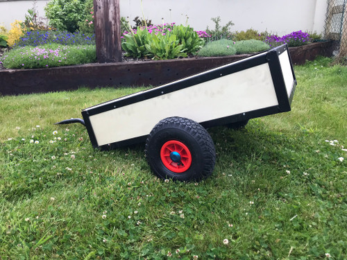 Trailer for Heavy Duty Go Karts - Collapsible Side Panels